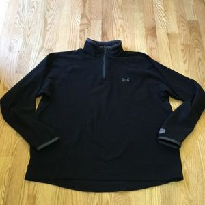 Under Armour 1/4 zip fleece black size Large